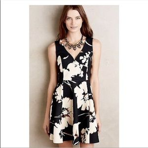 Anthropologie/ MAEVE Fit & Flare Floral Dress Sz 4